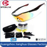 2016 lunettes de soleil de myopie de sport reflétées par coutume sans monture neuve de type avec les lentilles changeables