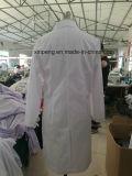 Выполненное на заказ, медицинское белое пальто, одежды работы лаборатории, ткань опционная, выполненный на заказ, выполненный на заказ логос