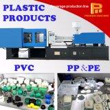 Tubos del PVC y moldeo a presión de las juntas que hace la máquina
