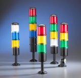 Luz de advertência da torre do diodo emissor de luz com função da campainha eléctrica e do flash, 5 seções, a instalação de dois tipos