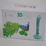 RoHS 증명서를 가진 펜을 인쇄하는 아이들 2세 3D 그림