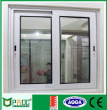 Ventana de desplazamiento de aluminio de la doble vidriera del perfil con el vidrio Tempered
