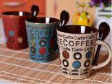 12ozローズのスプーンが付いている花によって印刷される陶磁器のコーヒー・マグ