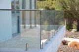 El pasamano de cristal de la escalera del acero inoxidable costó con el vidrio Tempered claro