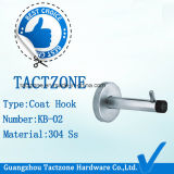 Acessórios modernos para hardware para partição de toalete Gancho em pano de aço inoxidável