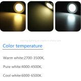 luz de alumínio de fundição interna magro do corpo da lâmpada da temperatura de cor das luzes da iluminação do diodo emissor de luz da casa da lâmpada AC85-265V do teto do painel do diodo emissor de luz do círculo 12W (2700-6500K)