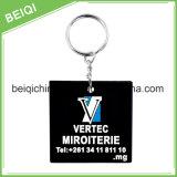 PVC 3D Keychain macio personalizado de Keychain do silicone bonito da forma