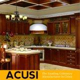 卸し売りアメリカ人U様式の純木の食器棚(ACS2-W21)