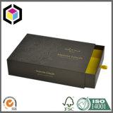 Rectángulo de regalo de papel rígido de la cartulina del estilo del cajón de la impresión de la insignia del oro
