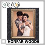 Europäischer silberner hölzerner Foto-Rahmen für Wand-Dekoration
