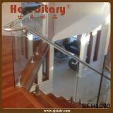 Heißes Verkaufs-Sicherheits-Privatleben-Glasbalustrade-Zapfen für Balkon mit bereiftem ausgeglichenem Glas (SJ-H937)