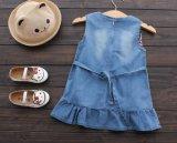 형식 여름 데님은 작은 아이 소녀 공주를 둘러싼다 Dress
