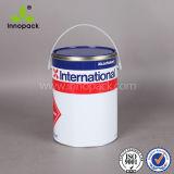 国連はふたおよびハンドルが付いている4Lによって印刷されたペンキの金属の缶のあたりで評価した