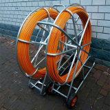 Стеклоткань вытягивая вьюрок штангу трубопровода змейки кабеля Rodder трубопровода подземный