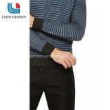 고품질 남자의 긴 소매를 가진 줄무늬로 한 면 스웨터