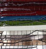 Couro de couro popular PU Bright Croco PU para saco (W156)