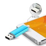 2016二重OTGマイクロUSB及びUSB 3.0人間の特徴をもつスマートな電話タブレットのパソコンのためのフラッシュ駆動機構OTG駆動機構