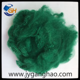 Polyester-Spinnfaser im Grün
