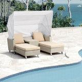 Im Freienpool-Strand-Garten-Möbel-Rattan-liegenbett Sunbed längerer Klappstuhl