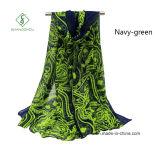 Signora Fashion Scarf del commercio all'ingrosso dello scialle dell'anacardio stampata voile