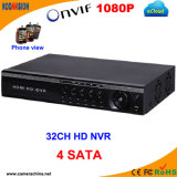 32 Canal H. 264 Standalone de Onvif 1080P CCTV Red NVR (8SATA)
