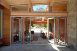 Дверь складчатости самого лучшего качества алюминиевая/стеклянная дверь складчатости