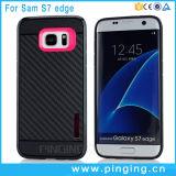 Caso durable de la cubierta de la fibra del carbón para el borde de la galaxia S7 de Samsung