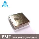 De Magneet van het Neodymium van het blok met Vierkante Oppervlakte