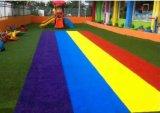 Künstliches/synthetisches Gras mit Farben-Gras