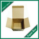 Cadre ondulé de repli de papier de Brown emballage le premier avec la coutume a estampé