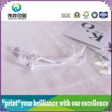Étiquette de papier de empaquetage de coup d'impression de corde de PVC de grand dos (pour le vêtement)