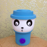 Tazza di caffè con la tazza del fermo di colore di Cindy del silicone e del coperchio
