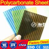 SGS approuvé PC Polycarbonate Feuille creuse Feuille solide Feuille ondulée recouverte d'UV
