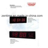 Horloge numérique émettante rouge de grande taille de mur de DEL pour la maison et le bureau