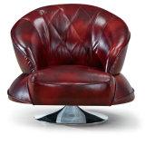 Moderner Spitzenkorn-echtes Leder-Sofa-Stuhl (C001)