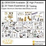 経験によってカスタマイズされる工場金属の工具細工の銅20年は、アルミニウム、ステンレス鋼、黄銅、鉄等のハードウェアOEM ODMに金属をかぶせる
