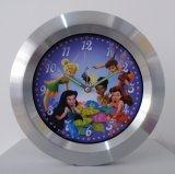 Reloj de pared del metal de los cabritos con colores multi
