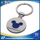 Anel chave do metal feito sob encomenda do logotipo para presentes da promoção