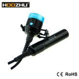 최대 4000lumens를 가진 Hoozhu D33 크리 사람 LED 잠수 빛 4X 크리 말 Xm-L2 LED