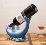 Supporti di bottiglia personalizzati del vino del delfino della resina da vendere