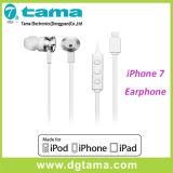 Nueva Stereo Lightning 8pin atado con alambre auricular para iPhone7