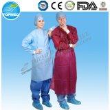 Vestido cirúrgico descartável de SMS, vestidos médicos de SBPP para o quarto de operação