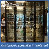 304# Kabinet van uitstekende kwaliteit van de Wijn van het Titanium van het Roestvrij staal het Achter