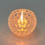 Support de bougie en cristal de couleur d'espace libre de décoration de mariage