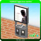 街灯の印を広告するショッピングモールライトボックス駐車ロット