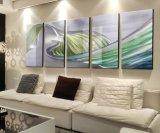 Peinture à l'huile abstraite d'art du mur 3D sur le métal