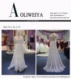 Vestido de casamento nupcial do destino com luva longa