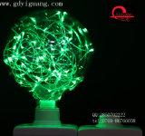 Bulbo colorido especial verde del material G125 del alambre de cobre de los bulbos de la estrella del LED