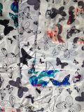 Silk печать Habotai в бабочке Desgin
