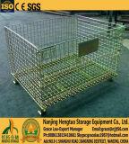 Rectángulo de paleta amontonable del acoplamiento de alambre de acero del almacén/rectángulo de almacenaje